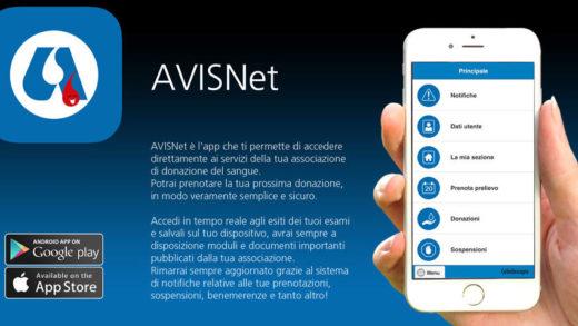 """Prenota la tua Donazione nel 2019 con  l'app  """"Avis Net"""""""