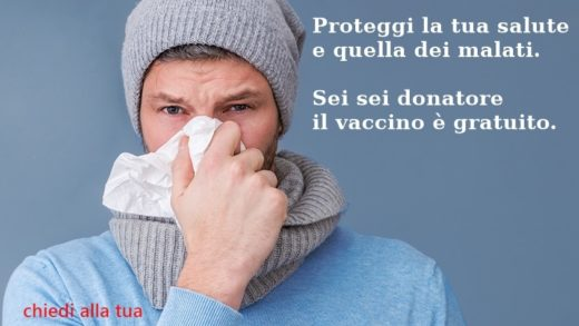Vaccinazioni antinfluenzali gratuite per i donatori di sangue